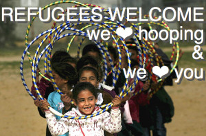we love hooping mit Flüchtlingen